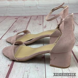 9- New! NY&C Blush suede low block heel sandals